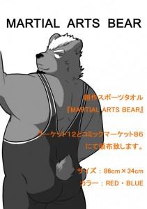 創作スポーツタオル「MARTIAL ARTS BEAR」の画像1